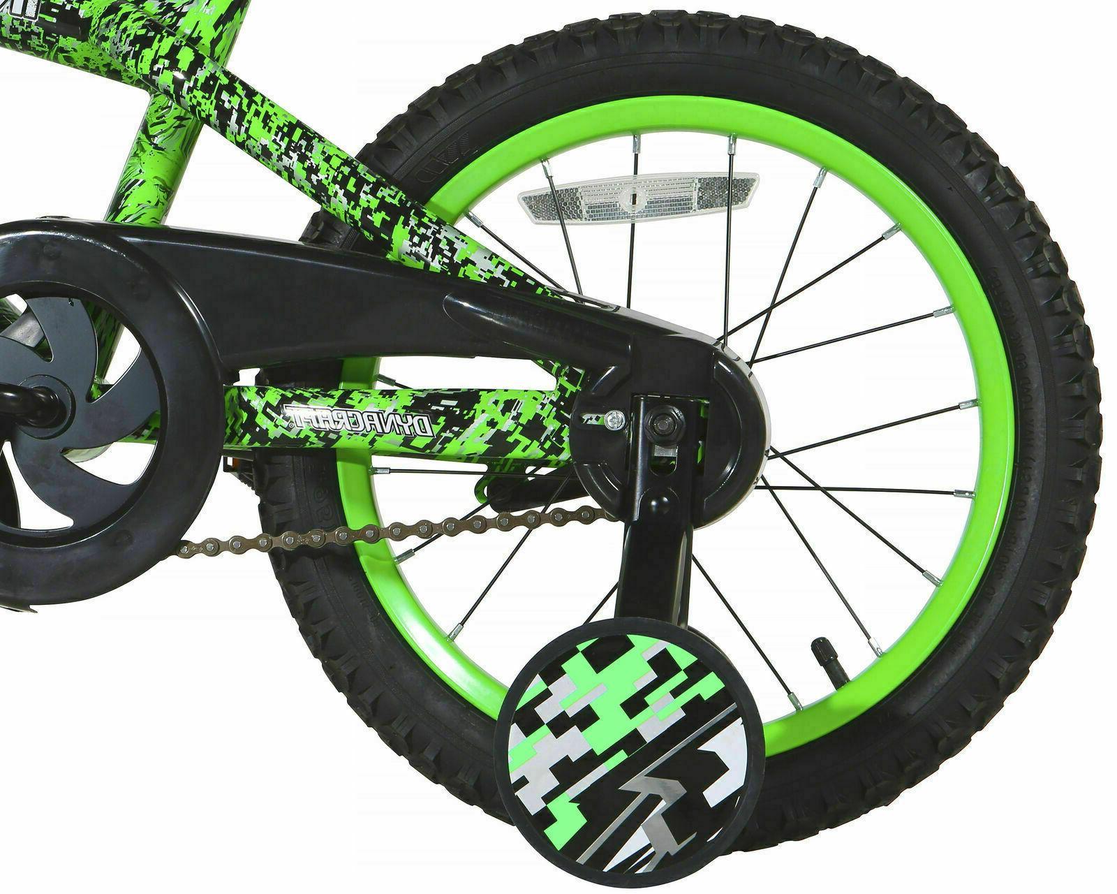 Boys Girls Training Wheels Green