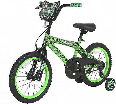 16 Kids Bike Bicycle with Single Speed Cool Design Green
