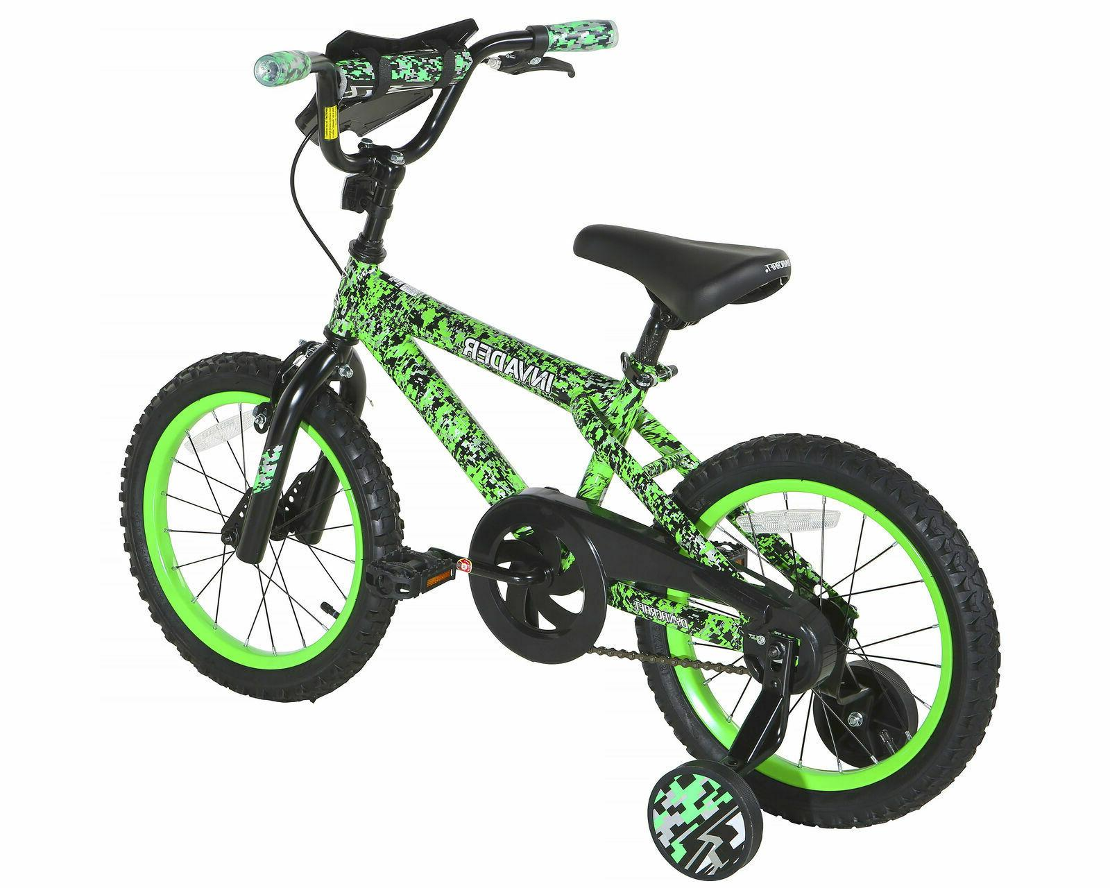 "16"" Kids Boys Girls Wheels Brake Green Yr"
