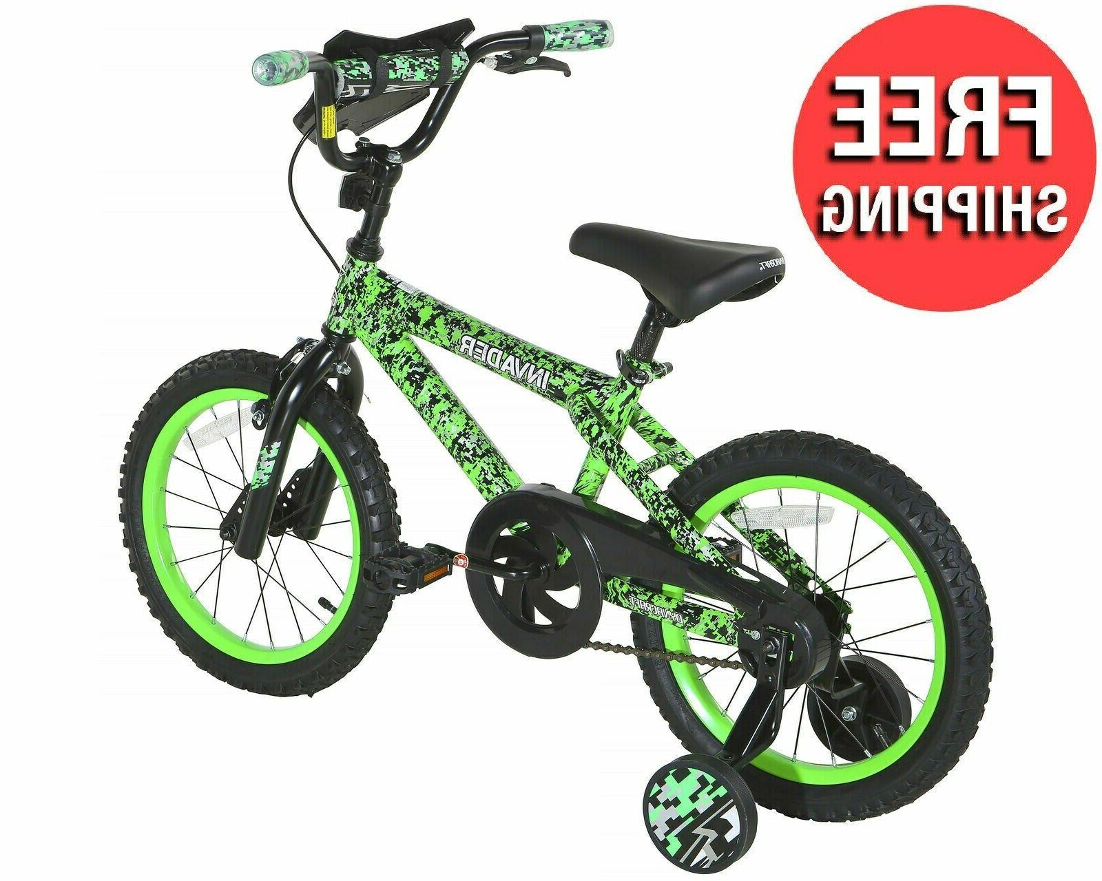 "16"" Kids Bicycle Boys with Training Wheels Brake Yr"