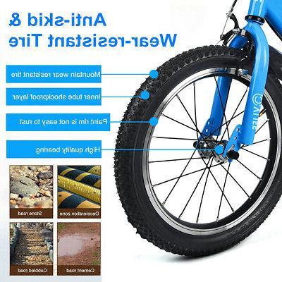 "16"" Kids Bicycle Adjustable Flash Training Wheel"