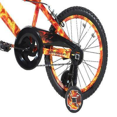 "Dynacraft 18"" Boys Bike Caliper Brakes Red Orange"