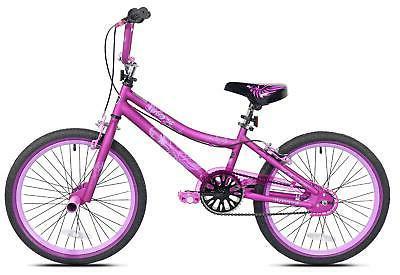 """20"""" Girls Bike BMX 8-12 Years  Padded Seat Hand And Foot Bra"""