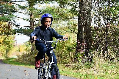 20 Boys Adjustable Seat Pedals Racing BMX Blue