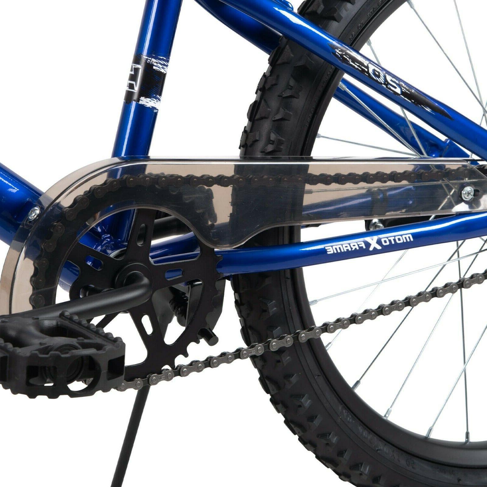 Kids Bike Blue 20 Inch Child Boys Adjustable Seat Brake