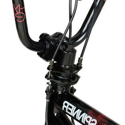 "20"" Kids BMX Bike Boys Bicycle Freestyle Steel Frame Cycling Gloss Black"