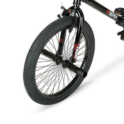 "20"" Kids BMX Boys Bicycle Freestyle Steel Frame Black"