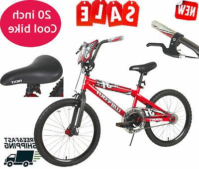 20 red wipeout boys bike 20