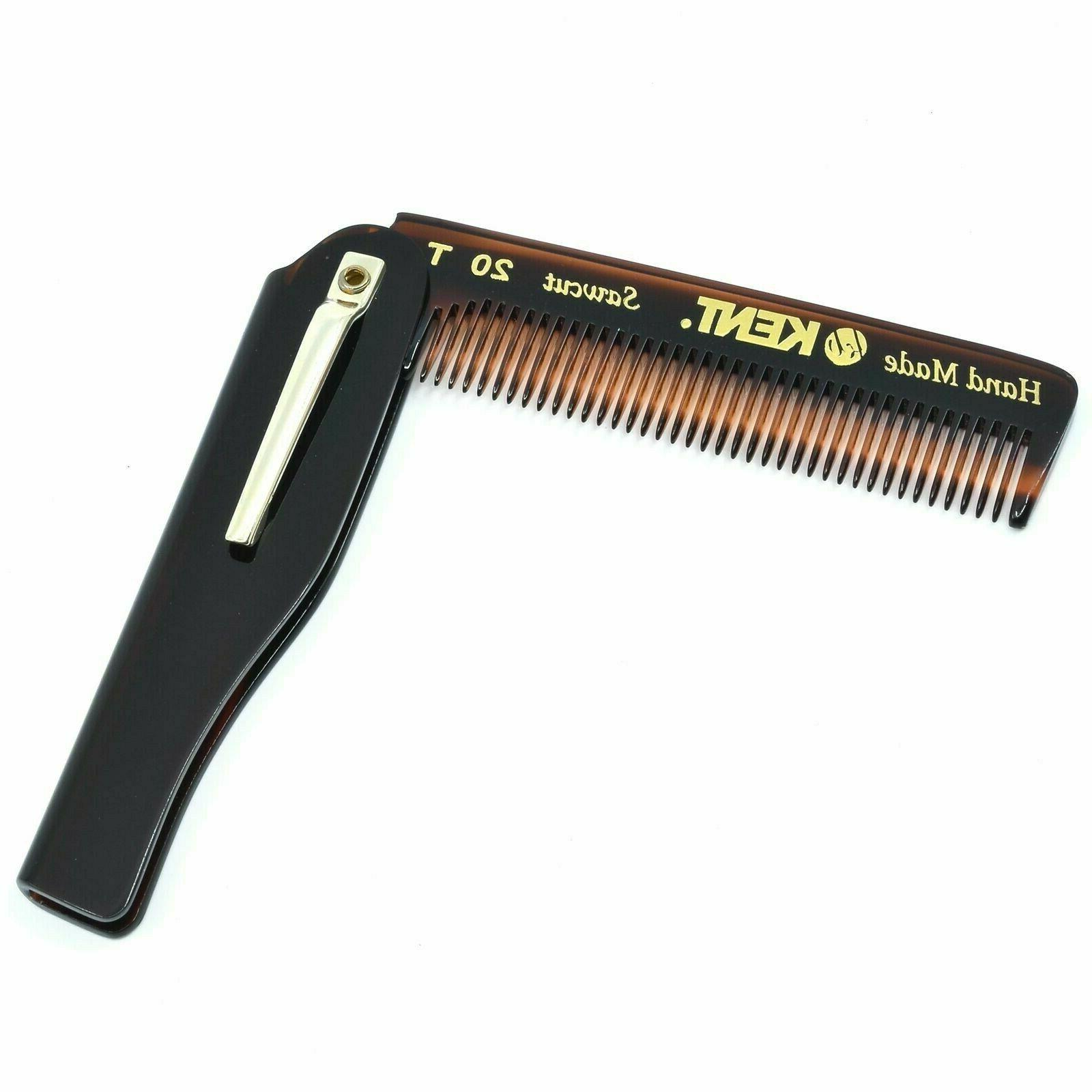 """Kent 20T 3 3/4"""" Fine Tooth Folding Comb with Pocket Clip Saw"""