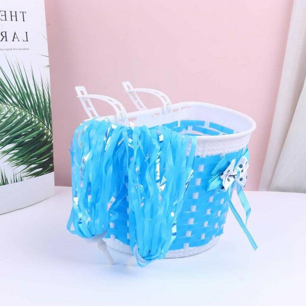 4X Kids Grip Tassels Streamers 2X Basket