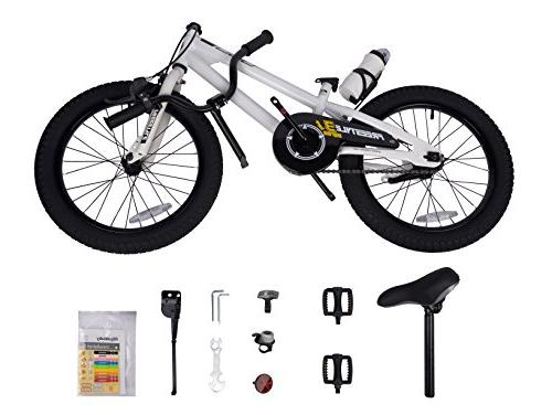 Royalbaby RB18B-6W BMX Kids Bike, Bikes and Girl's training wheels, children, 18 inch White
