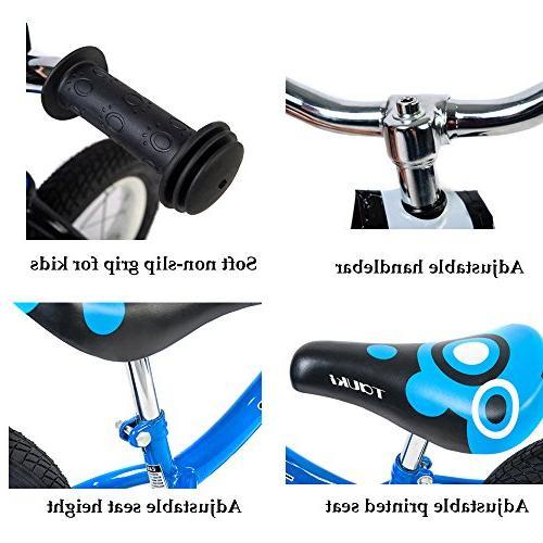 Tauki Balance Bike No Pedal Push 12 Blue,