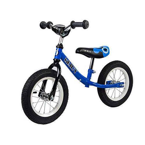 Tauki Kid Balance Bike No Pedal Push Bicycle, 12 Inch, Blue,