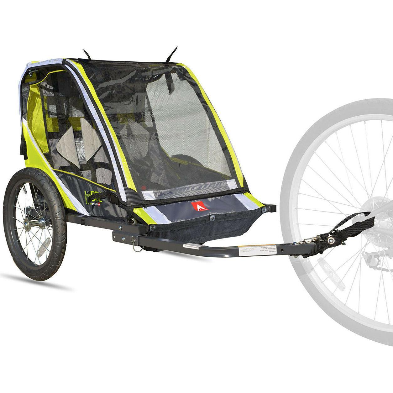 Green Bike Trailer Lightweight Cart Stroller Racing