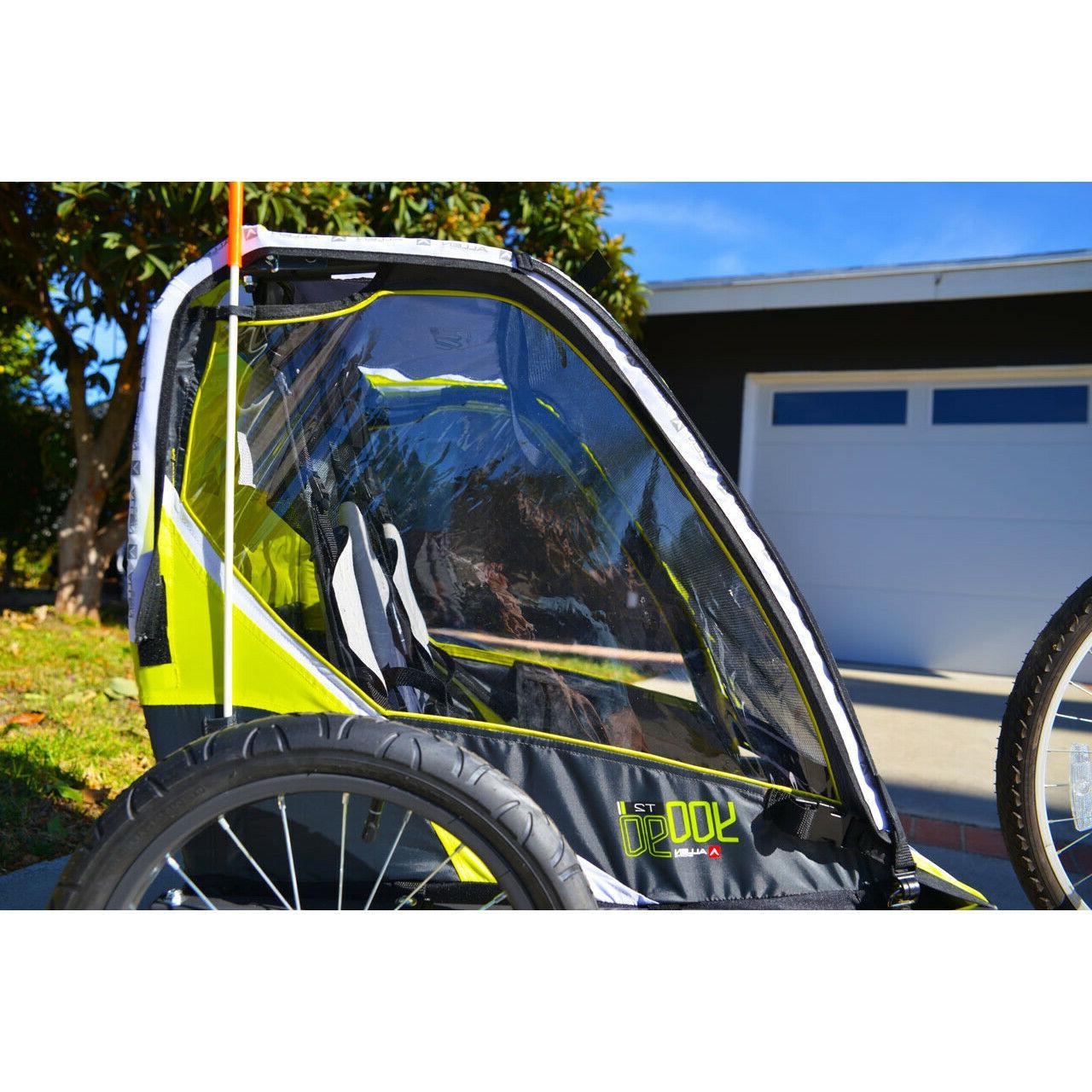 allen sports deluxe 2 child bike trailer