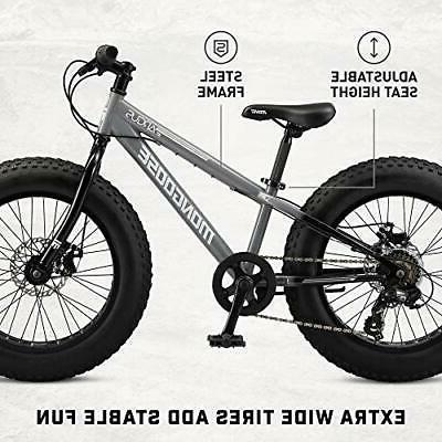 Mongoose Argus Fat Tire Bike, 20-Inch Wheels, Disc
