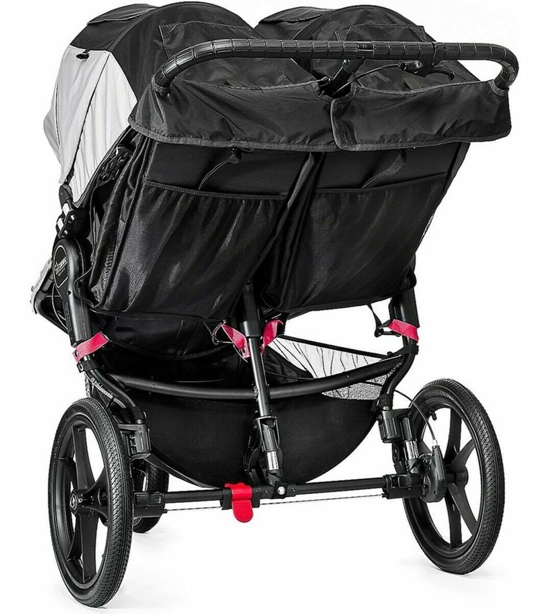 Baby Stroller Summit X3 Twin Infant Jogging - Gray/Black
