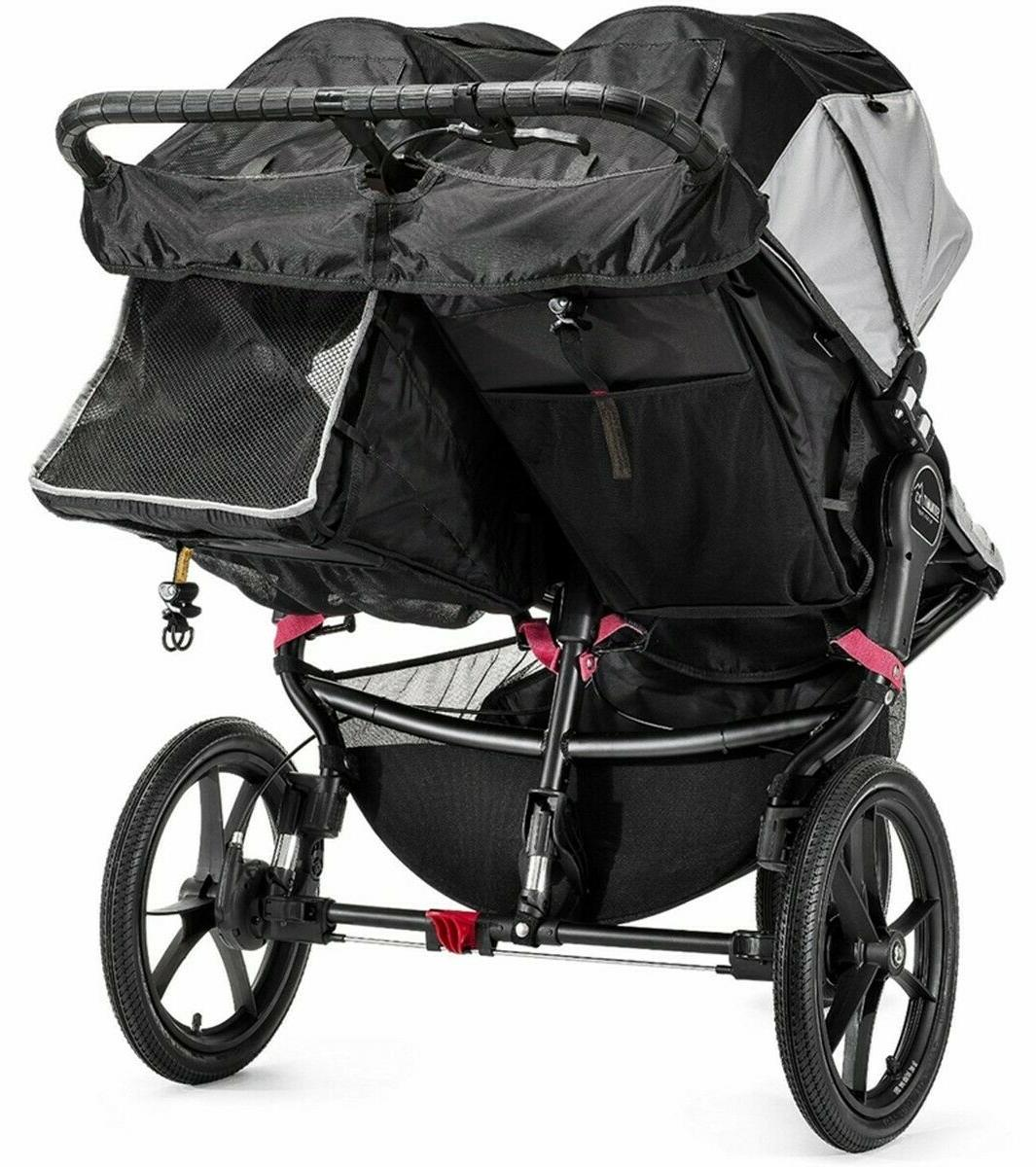 Baby Double Stroller Summit X3 Infant Jogging - Gray/Black