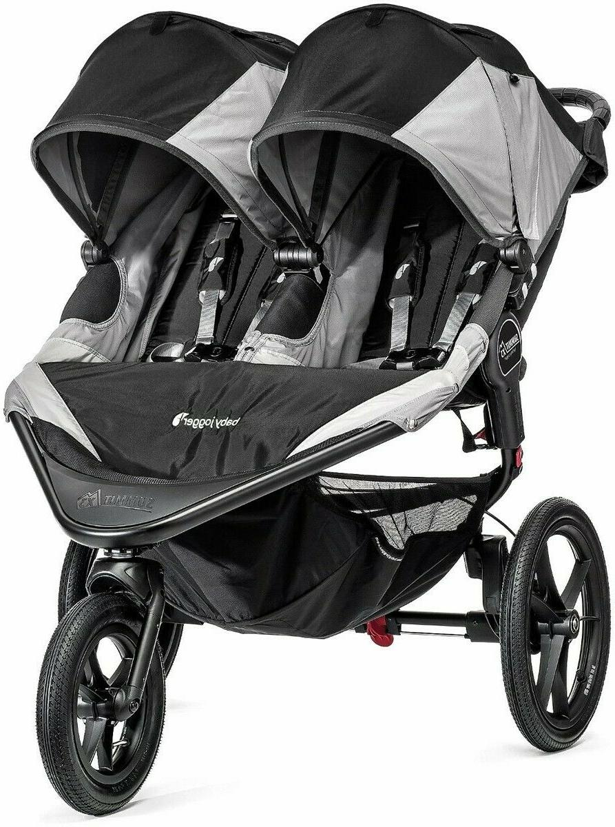 baby double jogging stroller summit x3 gray