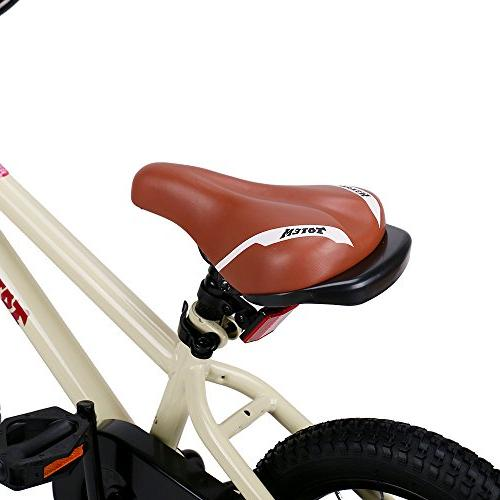 JOYSTAR 14 Bike 3 5 Girls, Unisex with Beige, 85%