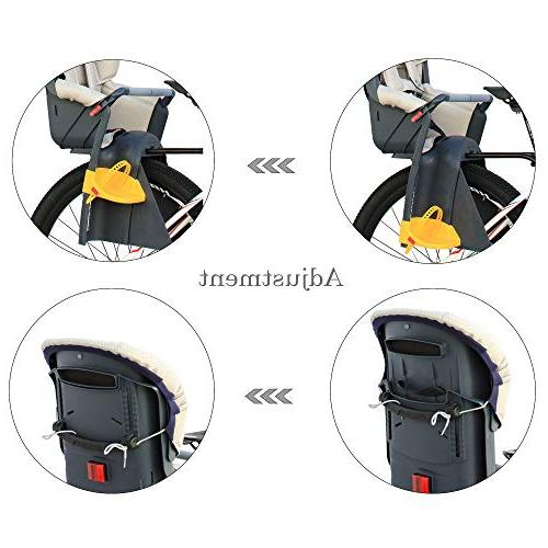CyclingDeal Kids Child Rear Seat Carrier Standard with Adjustable Seat Height