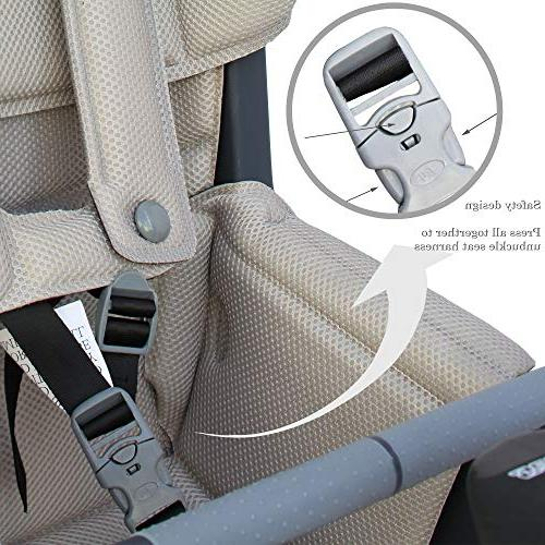 CyclingDeal Rear Baby Carrier Standard with Adjustable Seat Rest