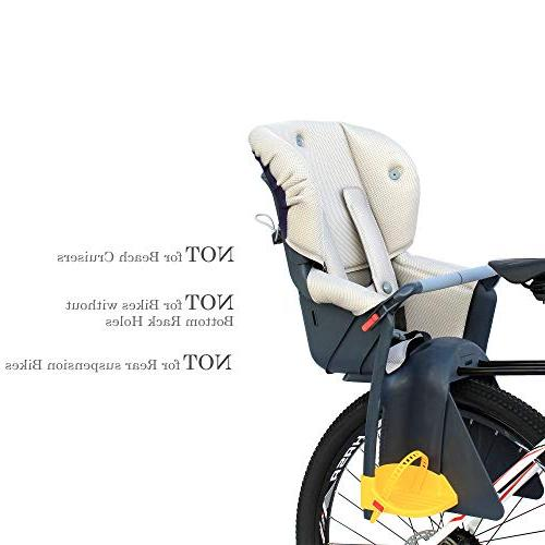 CyclingDeal Bicycle Child Rear Baby Seat Carrier USA Adjustable Height
