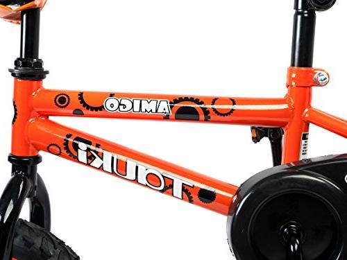 Tauki Kids Freestyle Bike for Boys and Girls, 12 Inch Kids Bicycle Training for 2 5 Years Orange