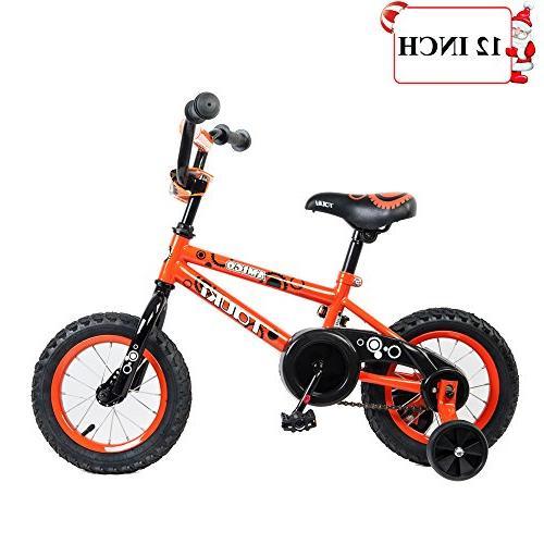 Tauki Kids BMX Bike Girls, Kids Bicycle Wheels for 5 Assembled, Orange