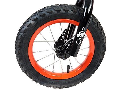 Tauki Kids BMX Bike Girls, 12 Inch Bicycle Wheels for 5 Years Old, Assembled, Gift Orange