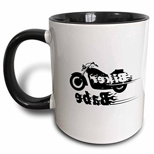 biker babe flaming text