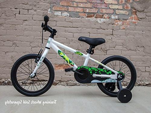 "Ryda 16"" White Bike and Airless Bike"