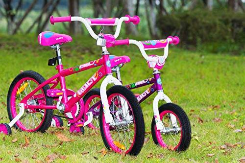 Tauki Kid BMX Bike Girls, 12 Pink, 95% Assembled, Years for Kids