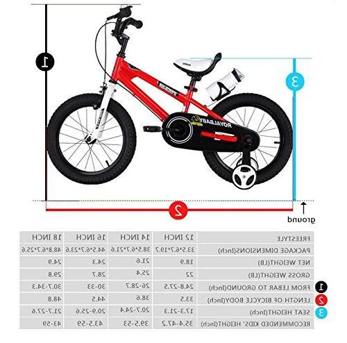 Royalbaby BMX Kids Bike, Boy's and training wheels, children, inch Blue