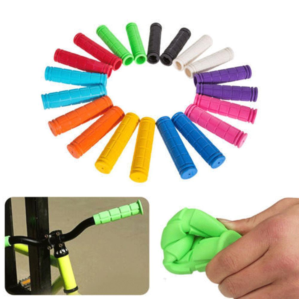 BMX MTB Bike Mountain Bicycle Handle Handlebar Soft Rubber Bar End Grips L