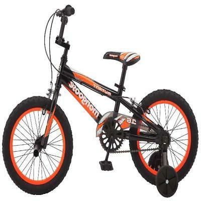 "16"" Mongoose Boys' Bike, Black Orange"