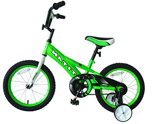 """Titan Champion Deluxe Boys BMX Bike with 16/"""" Wheels Training Wheels Included"""