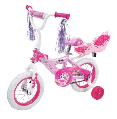 disney princess girls 12 bike with doll