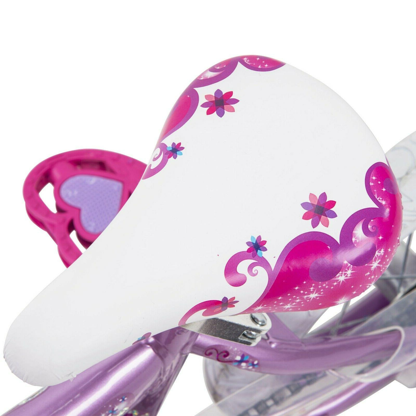 Huffy Disney Bike 12 inch, Pink/Purple with Carriage