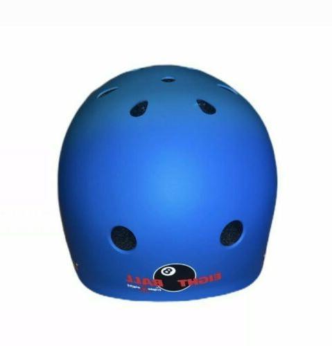 Eight Dual Scooter Helmet Blue NEW