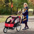 Elite Aosom Double Baby Bike Trailer Stroller Child Bicycle