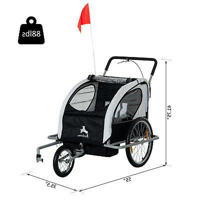 Aosom Elite Bike Stroller Child Bicycle Black