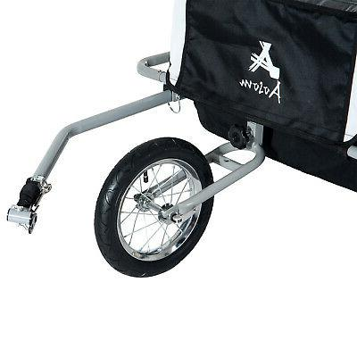 Aosom Baby Bike Trailer - Child Bicycle Kids Jogger Black