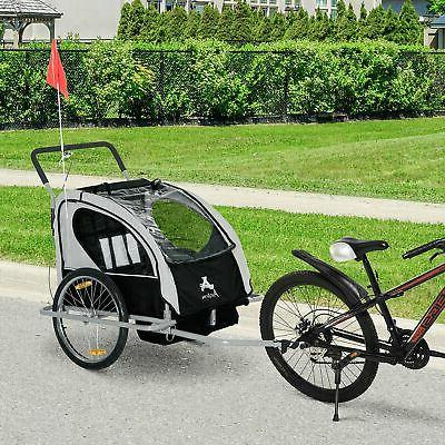 elite double bike trailer stroller