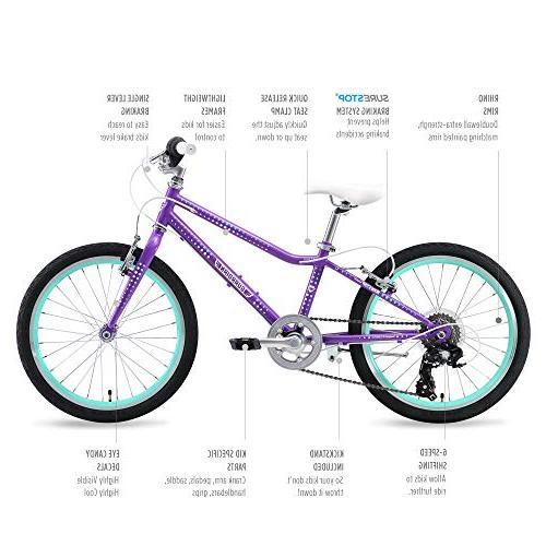 "Guardian Bikes Safer System 20"" Purple/Aqua"