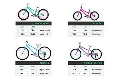 Guardian Bikes Ethos Safer Patented System Kids Bike, Purple/Aqua