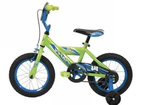 frenzy kids bike 14 green and blue