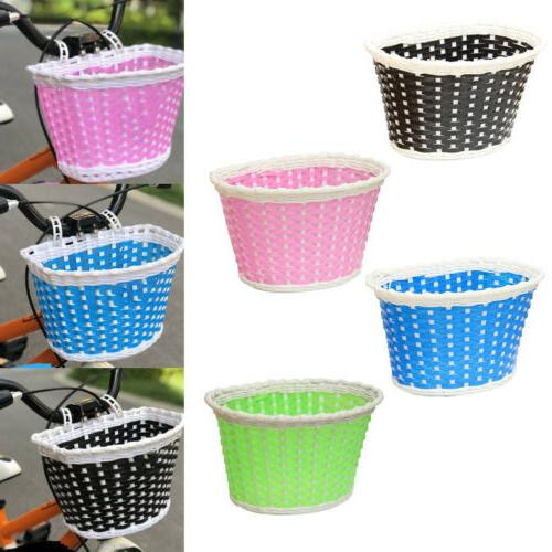 girls bicycle front basket flower shopping childs