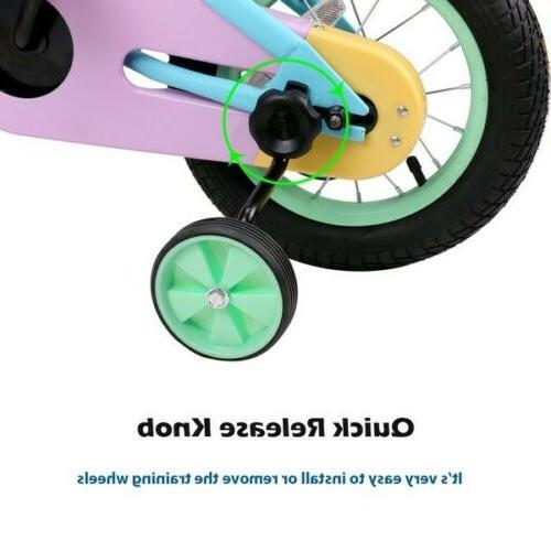 JOYSTAR Girls Kids Bike Bicycle with Quick Trainning Wheel 12 14 16