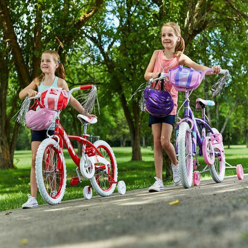 Huffy Glimmer Girls 12,14,16,18In W/ Wheels Handleb